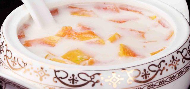 牛奶木瓜甜汤