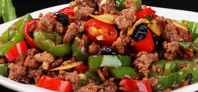 双椒豆豉羊肉末