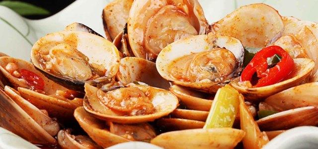 夏季的美味海鲜小炒