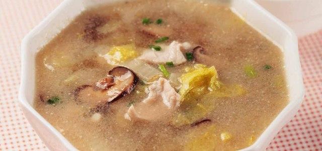 香菇白菜瘦肉汤