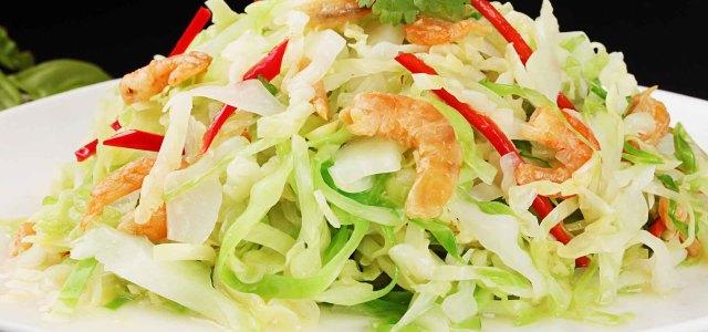 虾米拌包菜