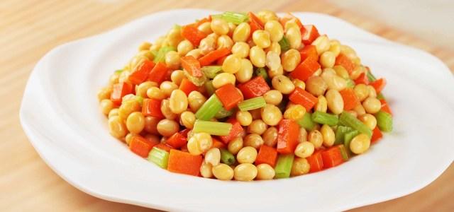 芹菜炒黄豆