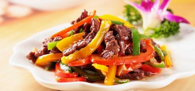 彩虹配牛肉