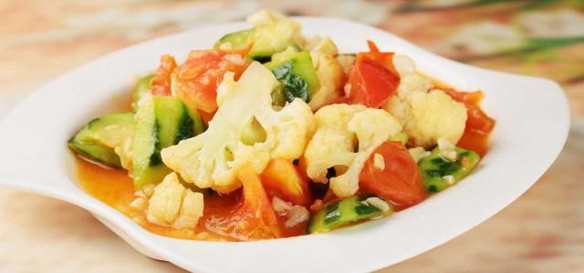 丝瓜烧花菜