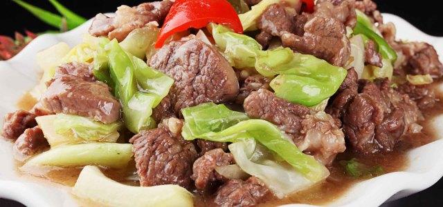 包菜炒羊肉