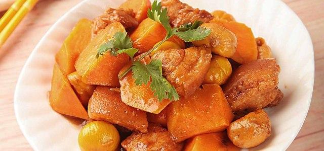 红薯板栗红烧肉