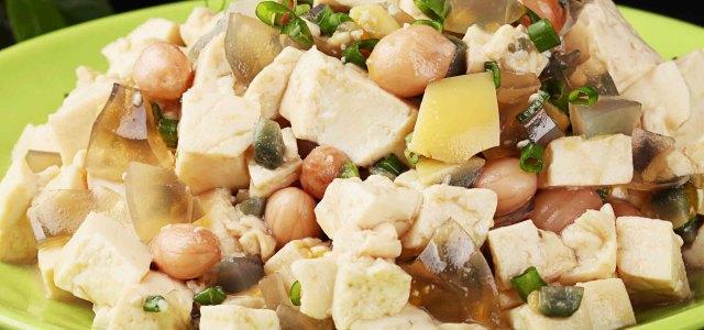 花生米拌豆腐