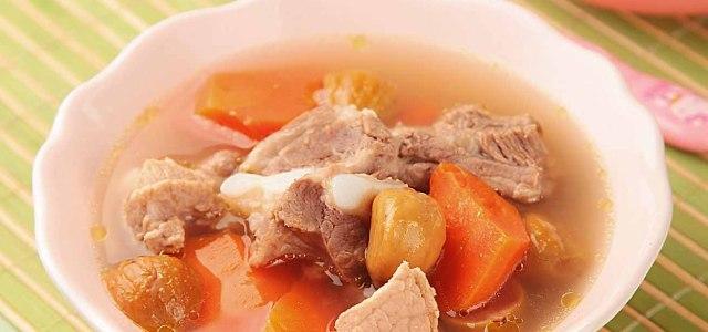 田七板栗排骨汤