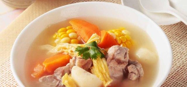 腐竹玉米马蹄汤