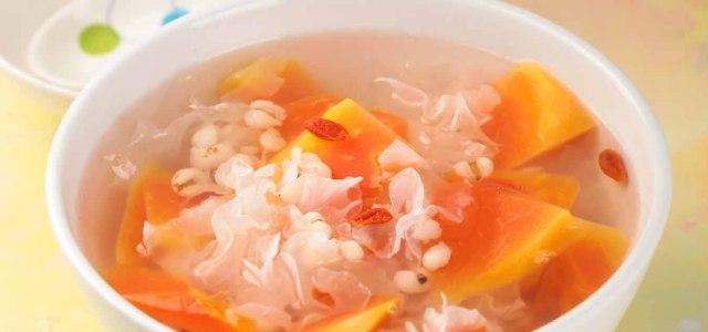 木瓜银耳薏米汤
