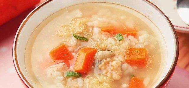 菊花核桃粥