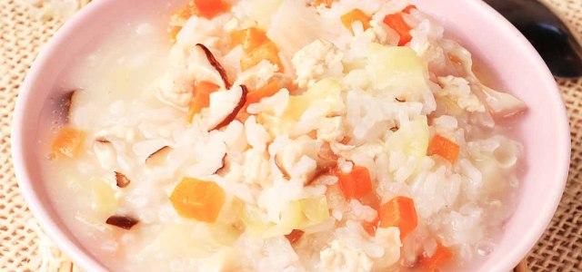 鲜嫩蔬菜香滑粥
