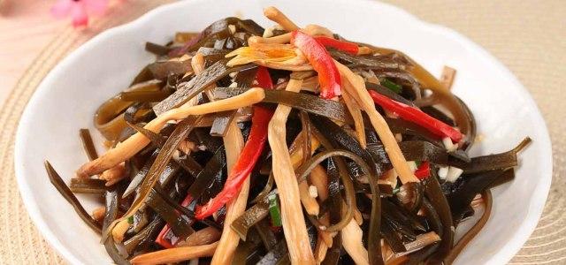 黄花菜拌海带丝