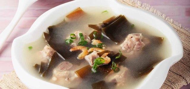 海带虾米排骨汤
