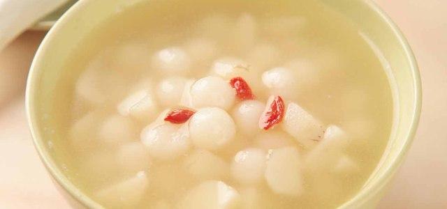 马蹄椰奶汤圆
