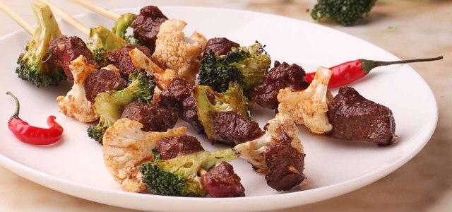 牛肉花菜串