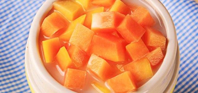 牛奶焖木瓜