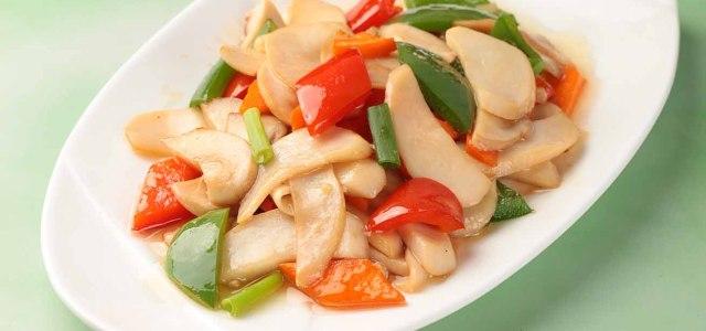 胡萝卜清炒杏鲍菇