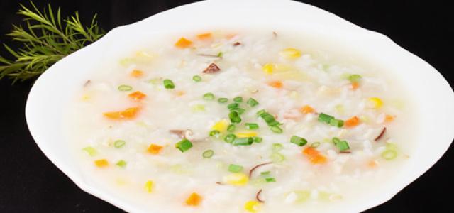 干贝蔬菜粥