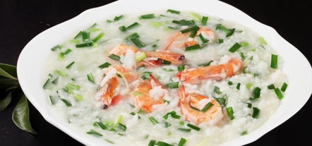 韭菜鲜虾粥