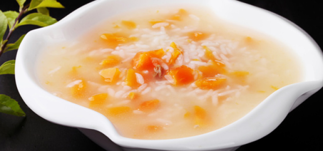 木瓜葡萄干粥