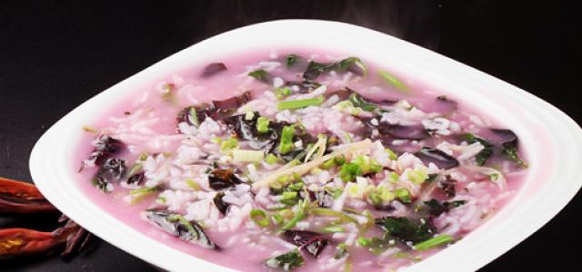 银鱼苋菜粥