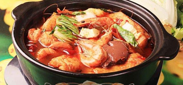 基围虾火锅