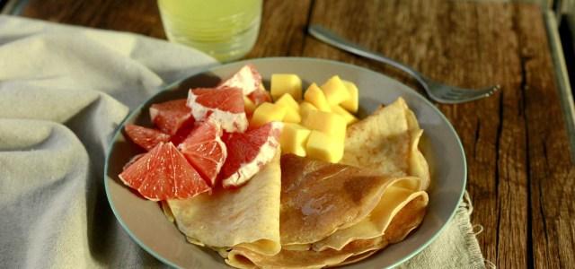 水果热松饼