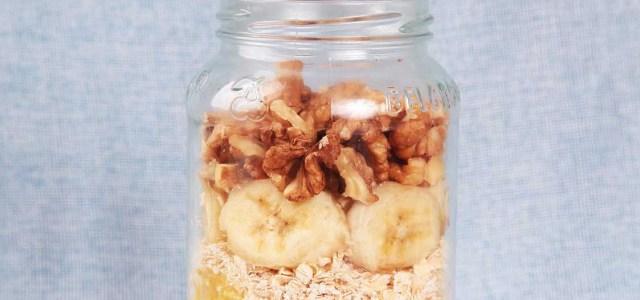 香蕉燕麦片沙拉