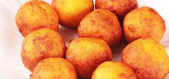 红薯丸子炸着才好吃