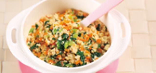 三色豆腐虾泥