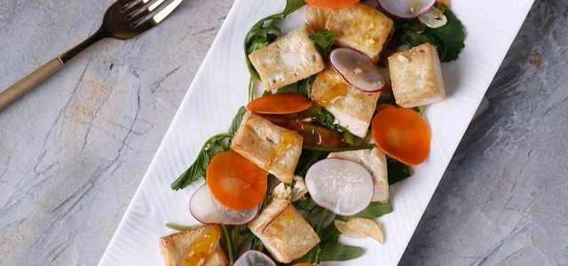 白嫩嫩的豆腐沙拉