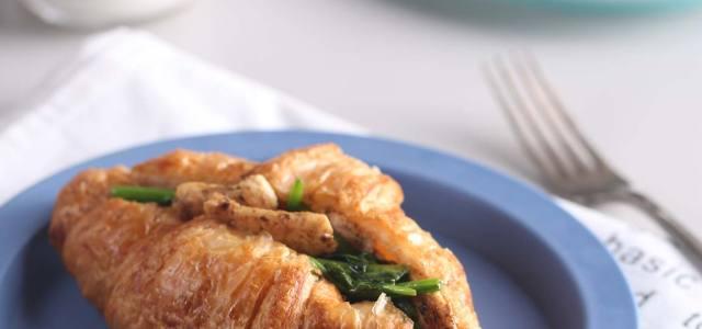 菠菜鸡肉三明治