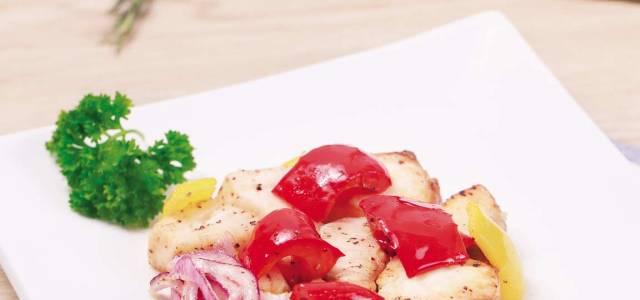 彩椒烤鳕鱼