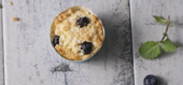使人幸福的蓝莓金莎麦芬蛋糕。