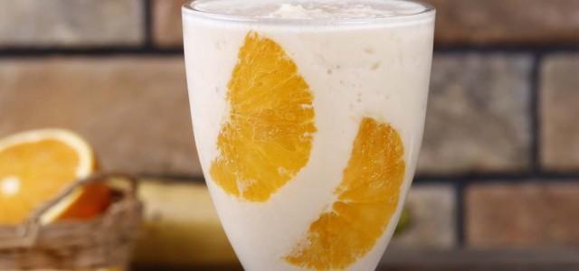 香蕉柳橙果饮