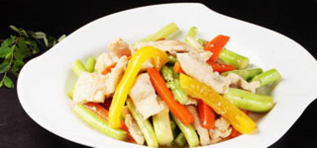 芦笋甜椒鸡片