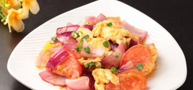 西红柿洋葱炒蛋