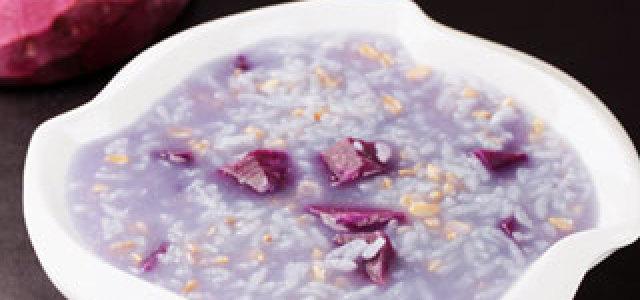 紫薯麦片粥