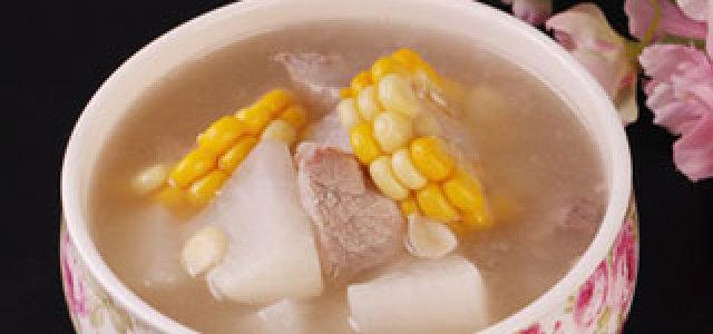 白萝卜玉米陈皮瘦肉汤