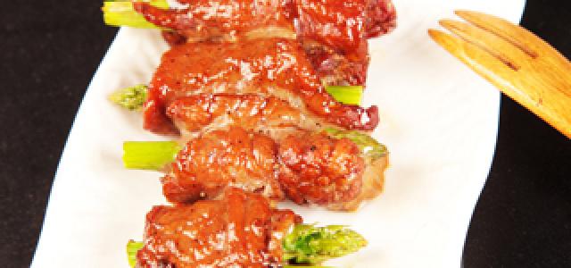牛肉芦笋卷